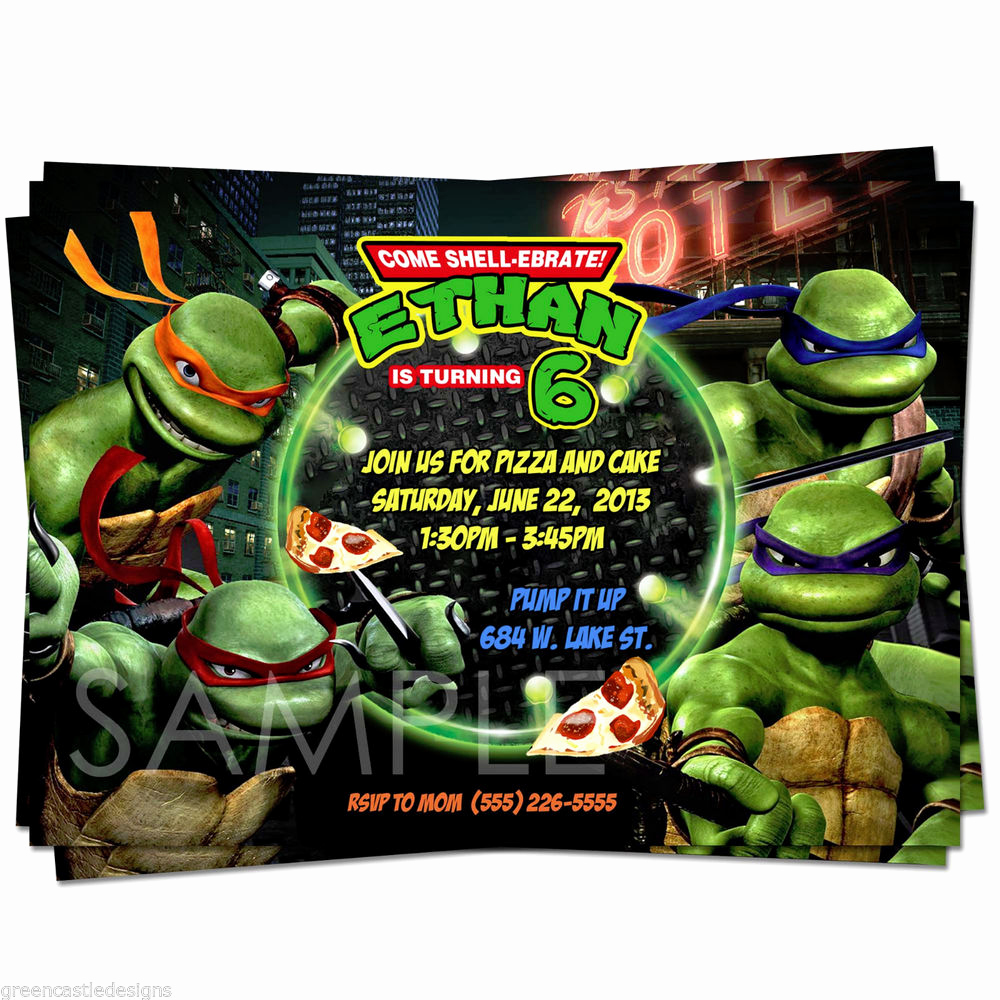 Ninja Turtle Birthday Invitation Template Luxury Teenage Mutant Ninja Turtles Birthday Quotes Quotesgram