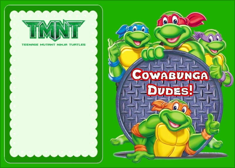 Ninja Turtle Invitation Template Elegant Teenage Mutant Ninja Turtles Another Great Idea for A