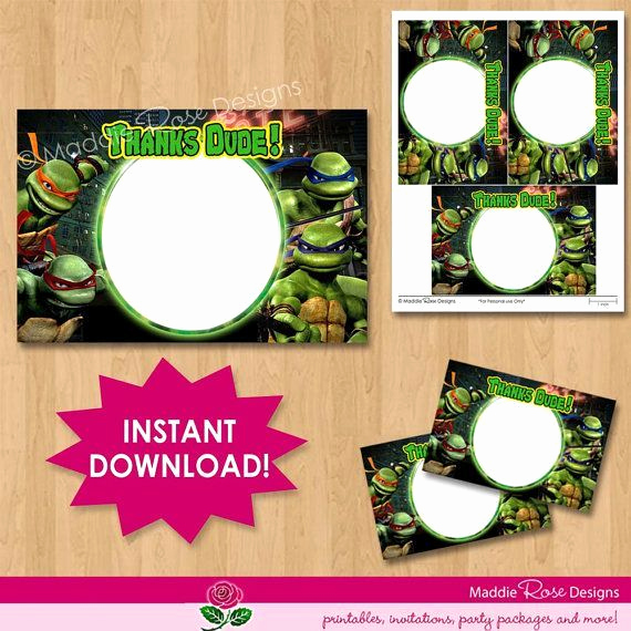 Ninja Turtle Invitation Template Elegant Teenage Mutant Ninja Turtles Printable