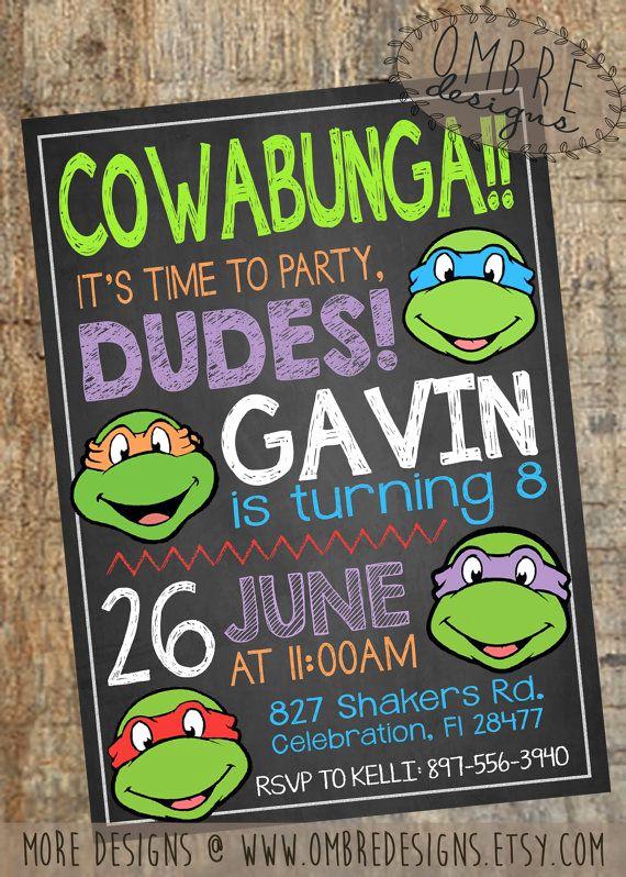 Ninja Turtle Invitation Template Free Awesome My Favorite Ninja Turtle Invitation Design This