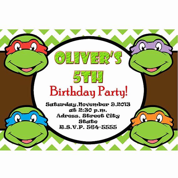 Ninja Turtle Invitation Template Free Best Of Teenage Mutant Ninja Turtles Invitation Tmnt Invite