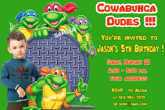 Ninja Turtle Invitation Template Free Elegant Ninja Turtle Birthday Invitations Ideas – Free Printable