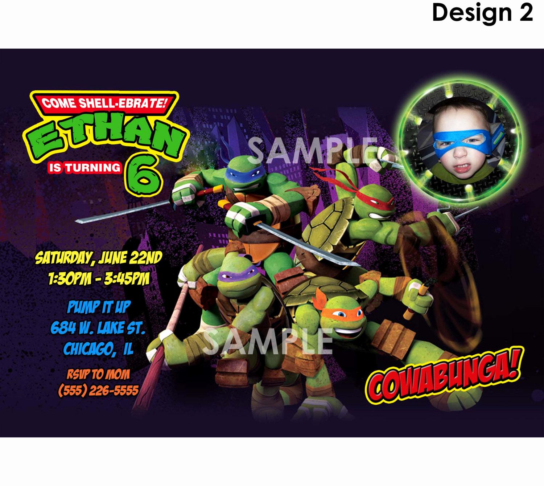 Ninja Turtle Invitation Template Free Elegant Teenage Mutant Ninja Turtle Birthday Party Invitations