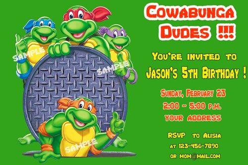 Ninja Turtle Invitation Template Free Fresh Pin by Drevio On Free Printable Birthday Invitation