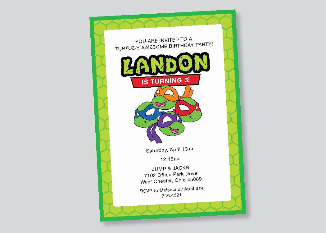 Ninja Turtle Invitation Template Free Lovely Ninja Turtle Invitation Templates