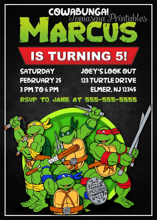 Ninja Turtle Invitation Template Inspirational 1000 Ideas About Ninja Turtle Invitations On Pinterest