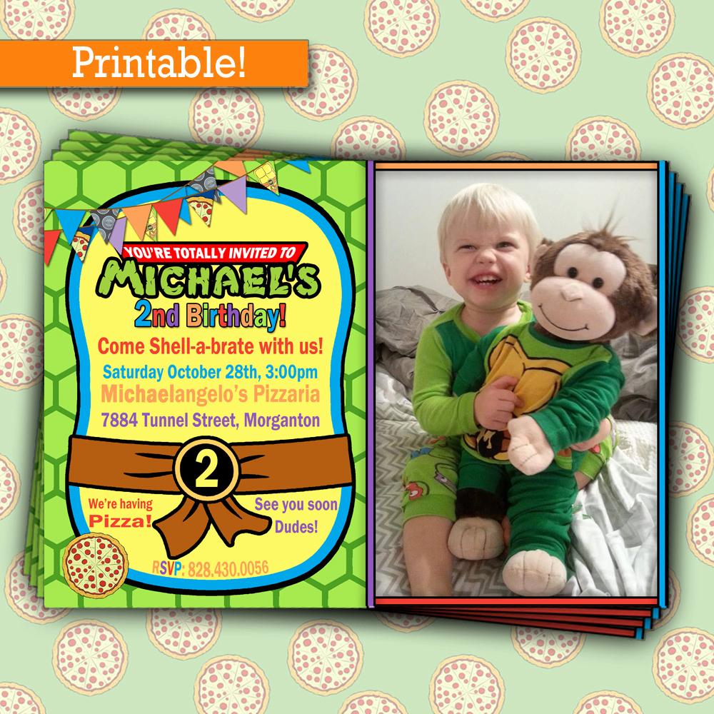 Ninja Turtle Invitation Template Inspirational Free Printable Ninja Turtle Party Invitations