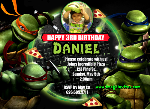 Ninja Turtle Invitation Templates Best Of Teenage Mutant Ninja Turtles Birthday Invitations Free