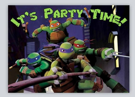 Ninja Turtle Invitation Templates Elegant Items Similar to Teenage Mutant Ninja Turtles Birthday