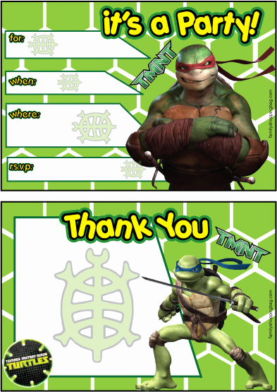 Ninja Turtle Invitation Templates Free Best Of Invitations