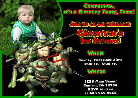 Ninja Turtle Invitation Templates Free Inspirational Ninja Turtle Birthday Invitations Ideas – Free Printable