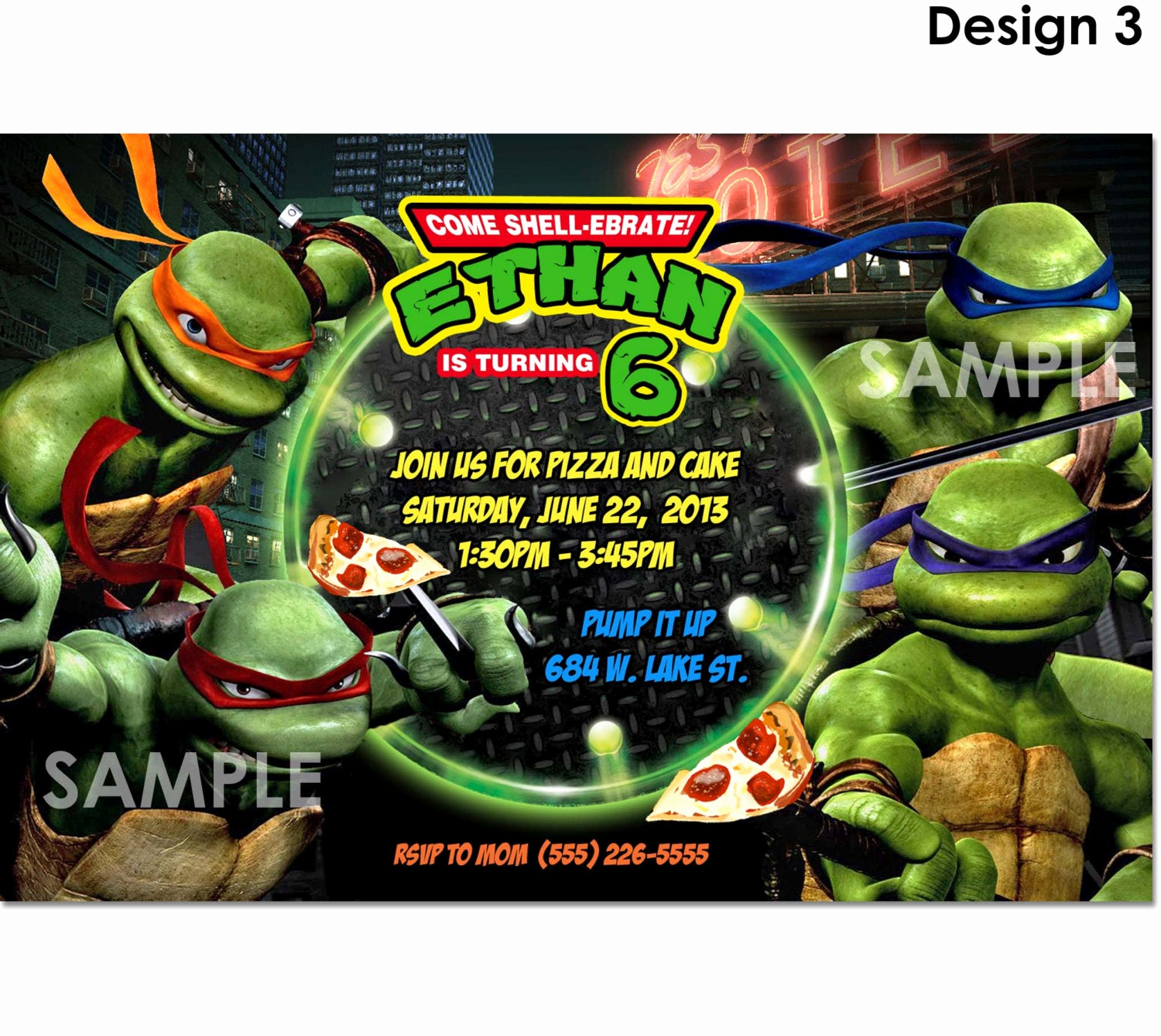 Ninja Turtle Invitation Templates Free Unique Tmnt Teenage Mutant Ninja Turtles Invitation Printable