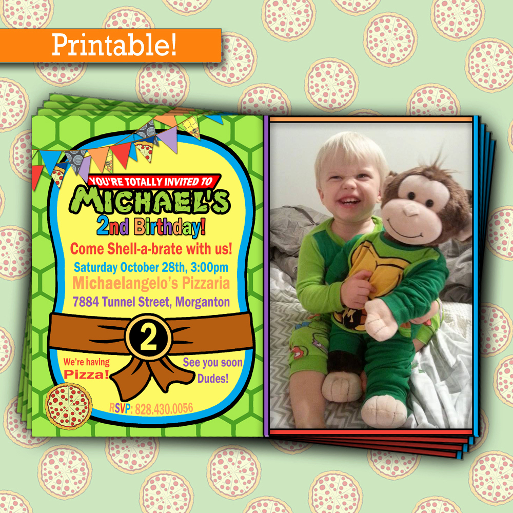 Ninja Turtle Invitation Templates Inspirational Free Printable Ninja Turtle Party Invitations