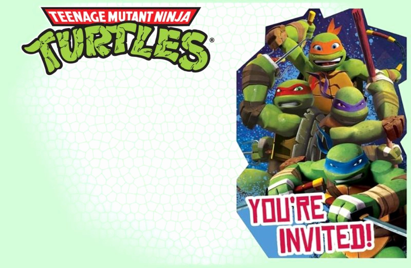 Ninja Turtle Invitation Templates Inspirational Teenage Mutant Ninja Turtles Another Great Idea for A