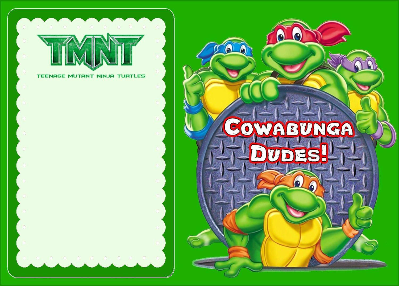 Ninja Turtles Birthday Invitation Beautiful Free Line Ninja Turtle Invitation
