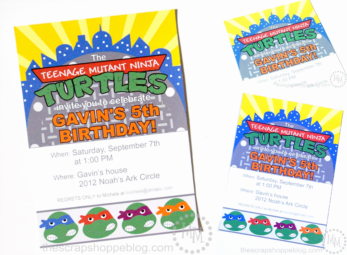 Ninja Turtles Birthday Invitation Beautiful Teenage Mutant Ninja Turtles Tmnt Birthday Invitations