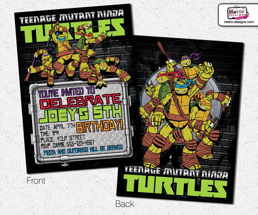 Ninja Turtles Birthday Invitation Elegant Batman Invitations – Metro Designs and Metro events