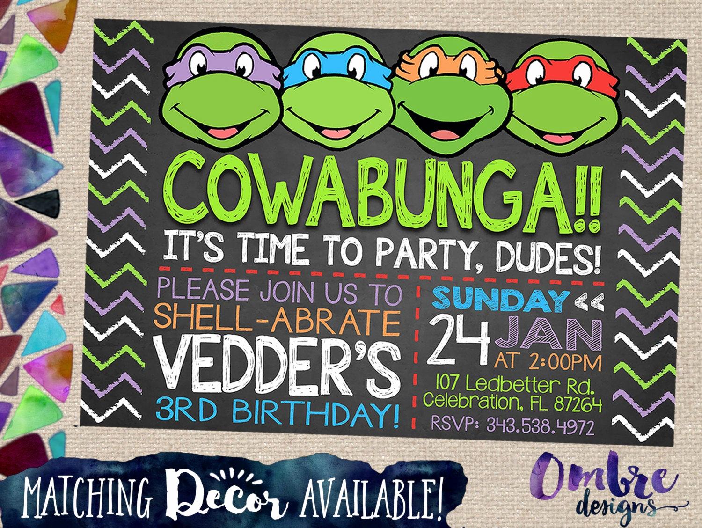 Ninja Turtles Birthday Invitation Inspirational Ninja Turtle Invitation Ninja Turtles Invite Tmnt Party