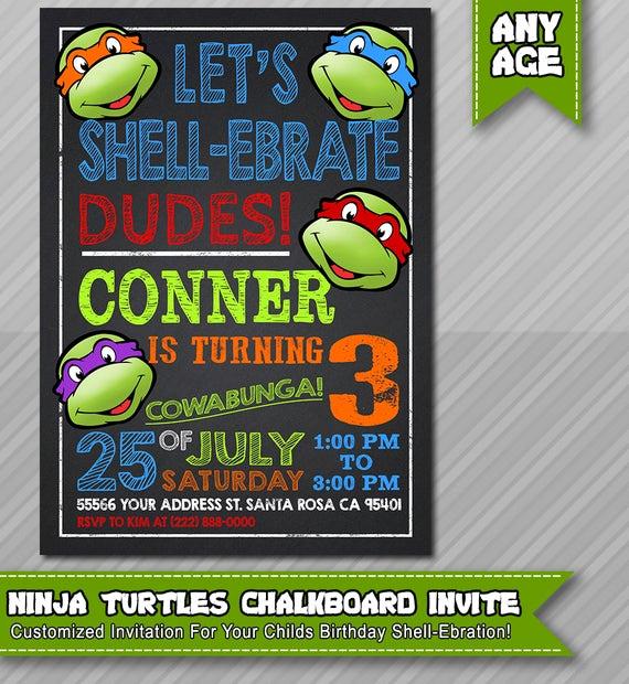 Ninja Turtles Birthday Invitation Inspirational Ninja Turtles Invitation Tmnt Printable by Epartyprintables