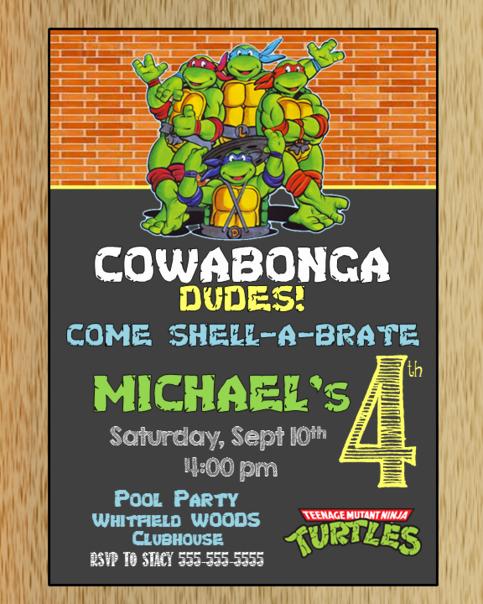 Ninja Turtles Birthday Invitation Luxury Teenage Mutant Ninja Turtles Birthday Invitation On Storenvy