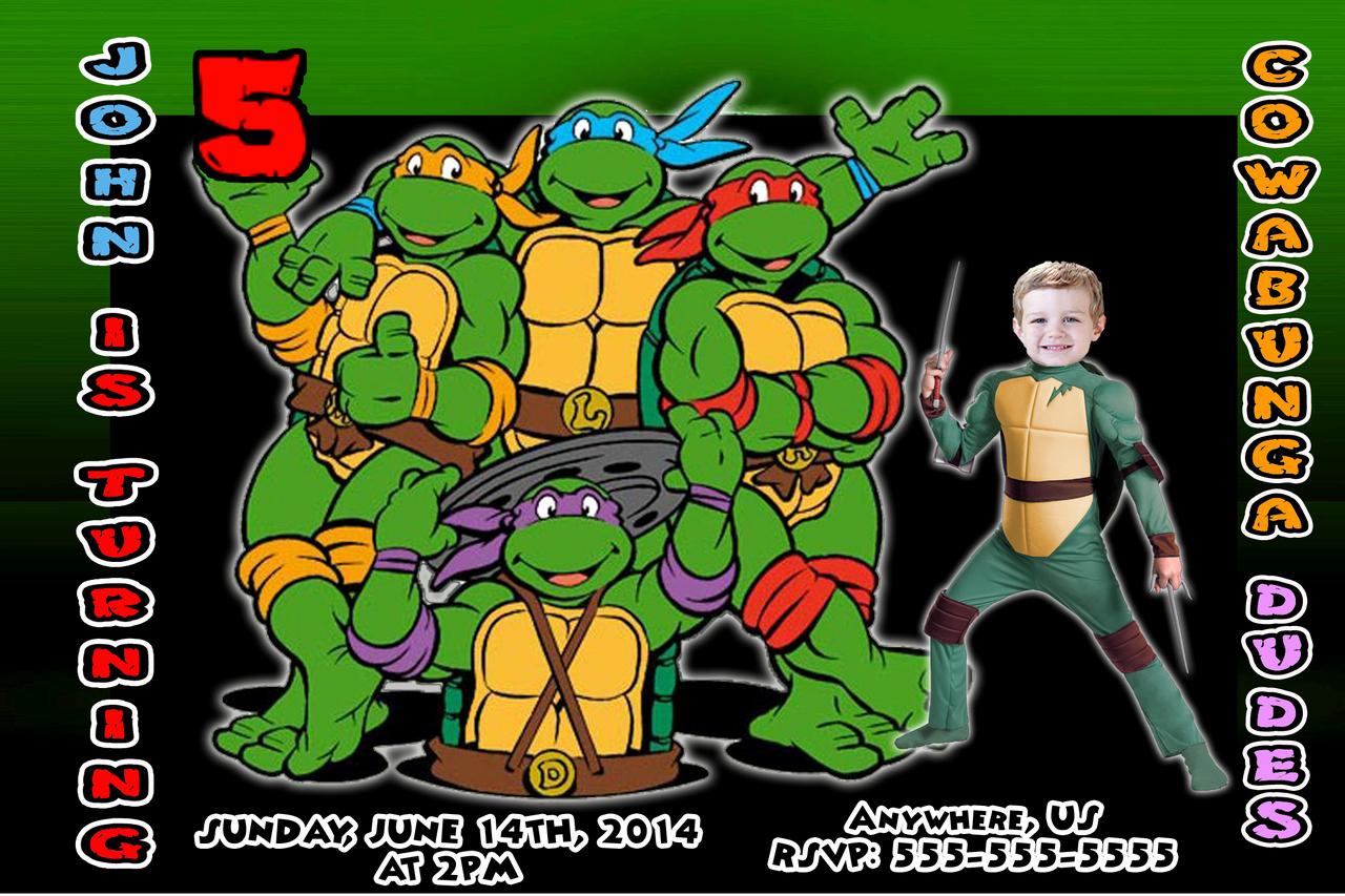 Ninja Turtles Birthday Invitation Templates Beautiful Free Printable Ninja Turtle Birthday Party Invitations