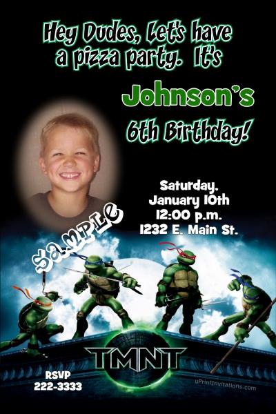 Ninja Turtles Birthday Invitation Templates Best Of Teenage Mutant Ninja Turtle Birthday Invitations