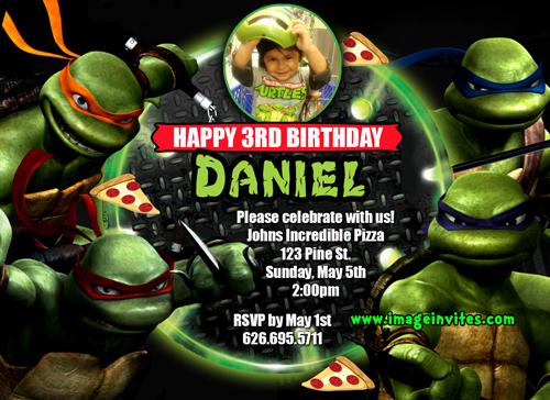 Ninja Turtles Birthday Invitation Templates Lovely Teenage Mutant Ninja Turtles Birthday Invitations Free