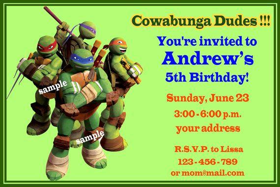 Ninja Turtles Birthday Invitation Templates Unique Free Printable Ninja Turtles Birthday Party Invitations