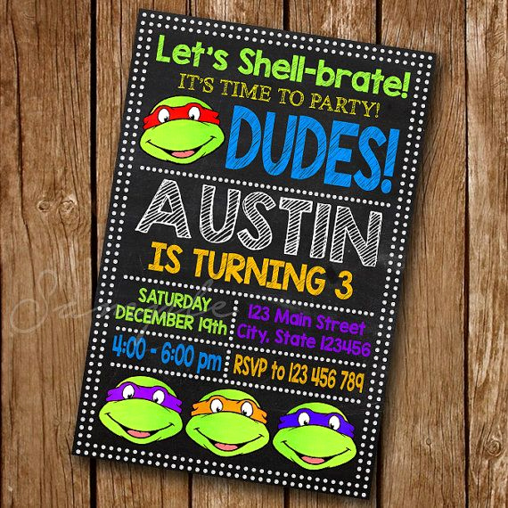 Ninja Turtles Birthday Invitation Unique Best 25 Ninja Turtle Invitations Ideas On Pinterest