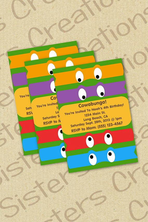 Ninja Turtles Invitation Ideas Beautiful Best 25 Ninja Turtle Invitations Ideas On Pinterest