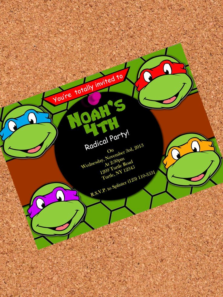 Ninja Turtles Invitation Ideas Fresh 441 Best Images About Invitations On Pinterest