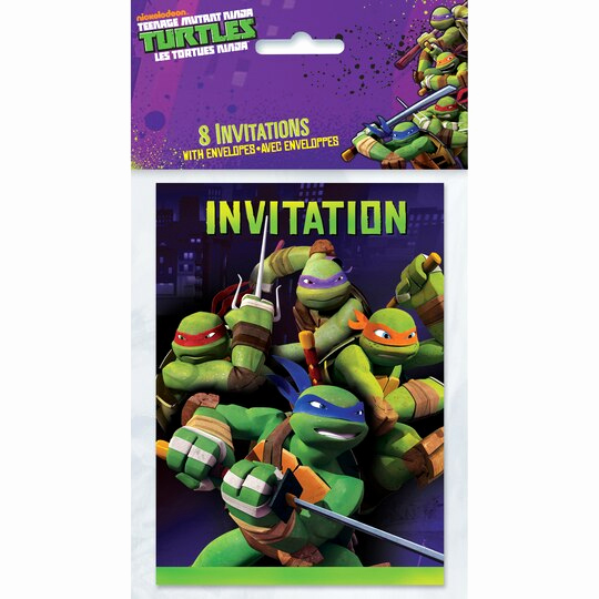 Ninja Turtles Invitation Ideas Inspirational Teenage Mutant Ninja Turtles Invitations 8ct