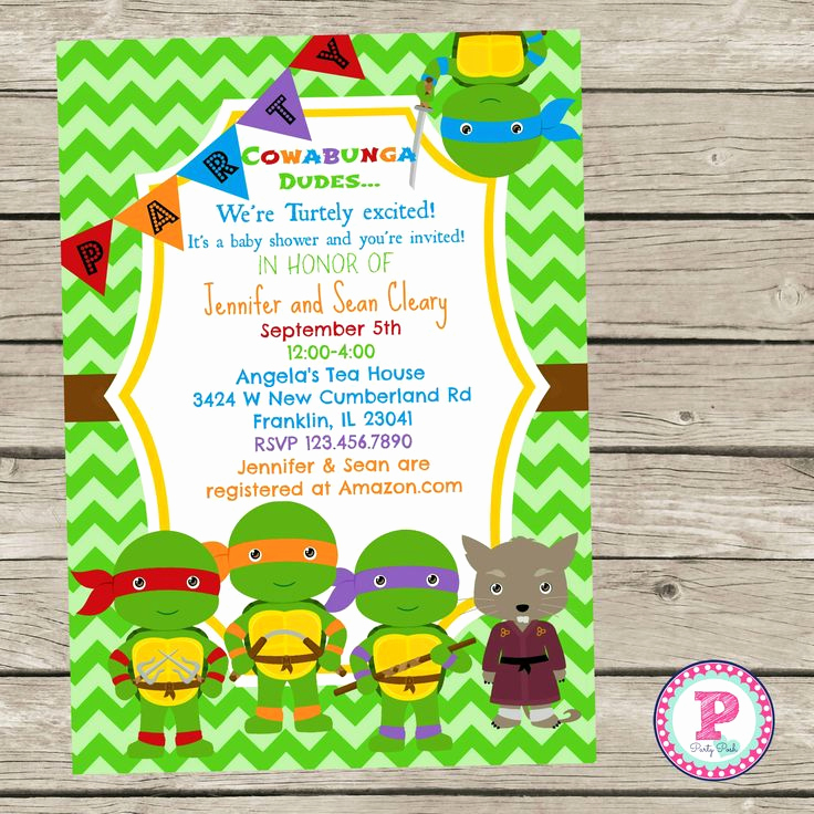 Ninja Turtles Invitation Ideas Luxury 25 Best Ideas About Ninja Turtle Invitations On Pinterest