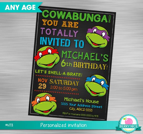 Ninja Turtles Invitation Ideas Luxury Ninja Turtles Invitation Turtles Invitation Teenage