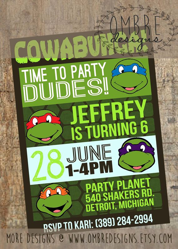 Ninja Turtles Invitation Ideas Unique 17 Best Ideas About Ninja Turtle Invitations On Pinterest