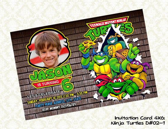 Ninja Turtles Invitation Ideas Unique 97 Best Images About Tmnt Party Ideas On Pinterest