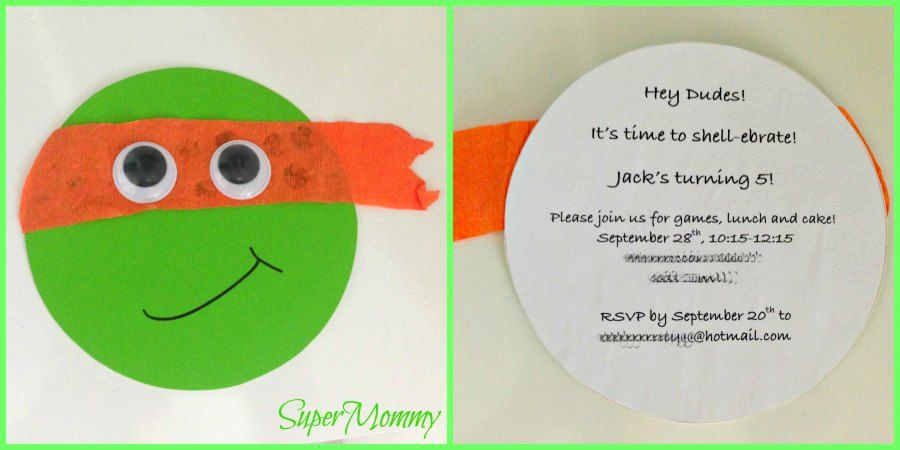 Ninja Turtles Invitation Ideas Unique Cute & Easy Teenage Mutant Ninja Turtles Birthday Party