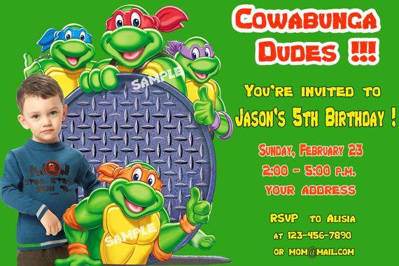 Ninja Turtles Invitation Template Awesome Ninja Turtle Birthday Invitations Ideas – Free Printable