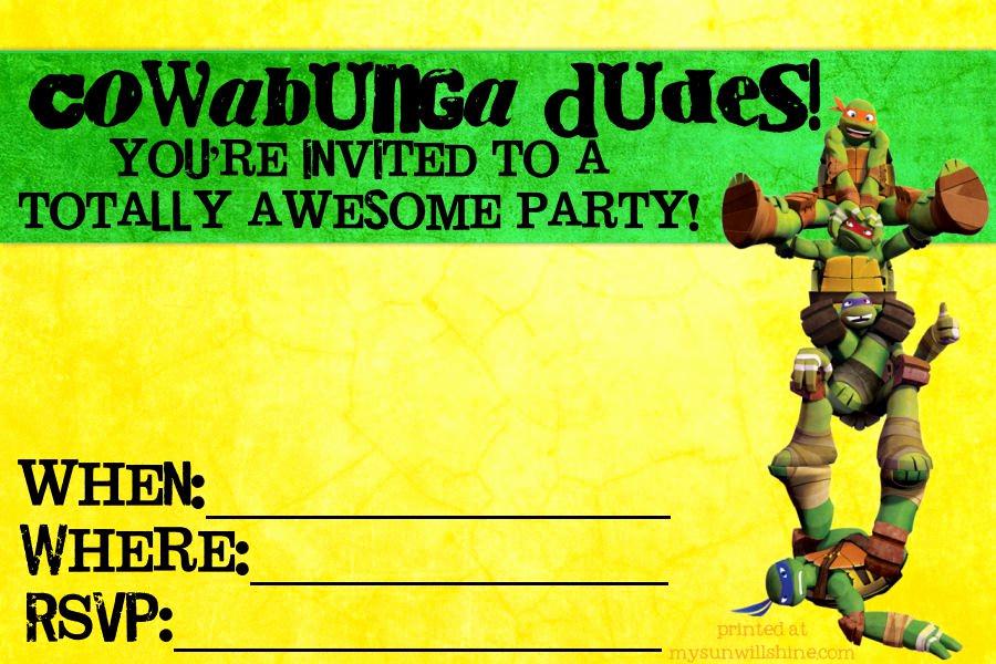 Ninja Turtles Invitation Template Fresh Teen Birthday Invitation Templates Free
