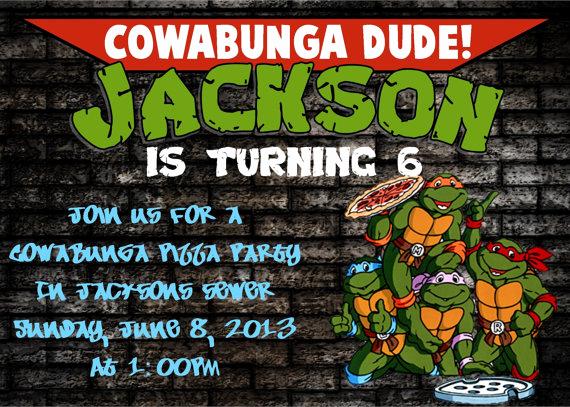 Ninja Turtles Invitation Template Inspirational Teenage Mutant Ninja Turtles Birthday Invitations Free