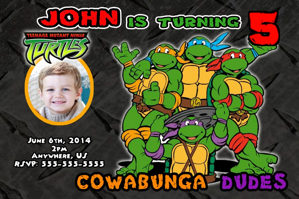 Ninja Turtles Invitation Template New Free Printable Ninja Turtle Birthday Party Invitations