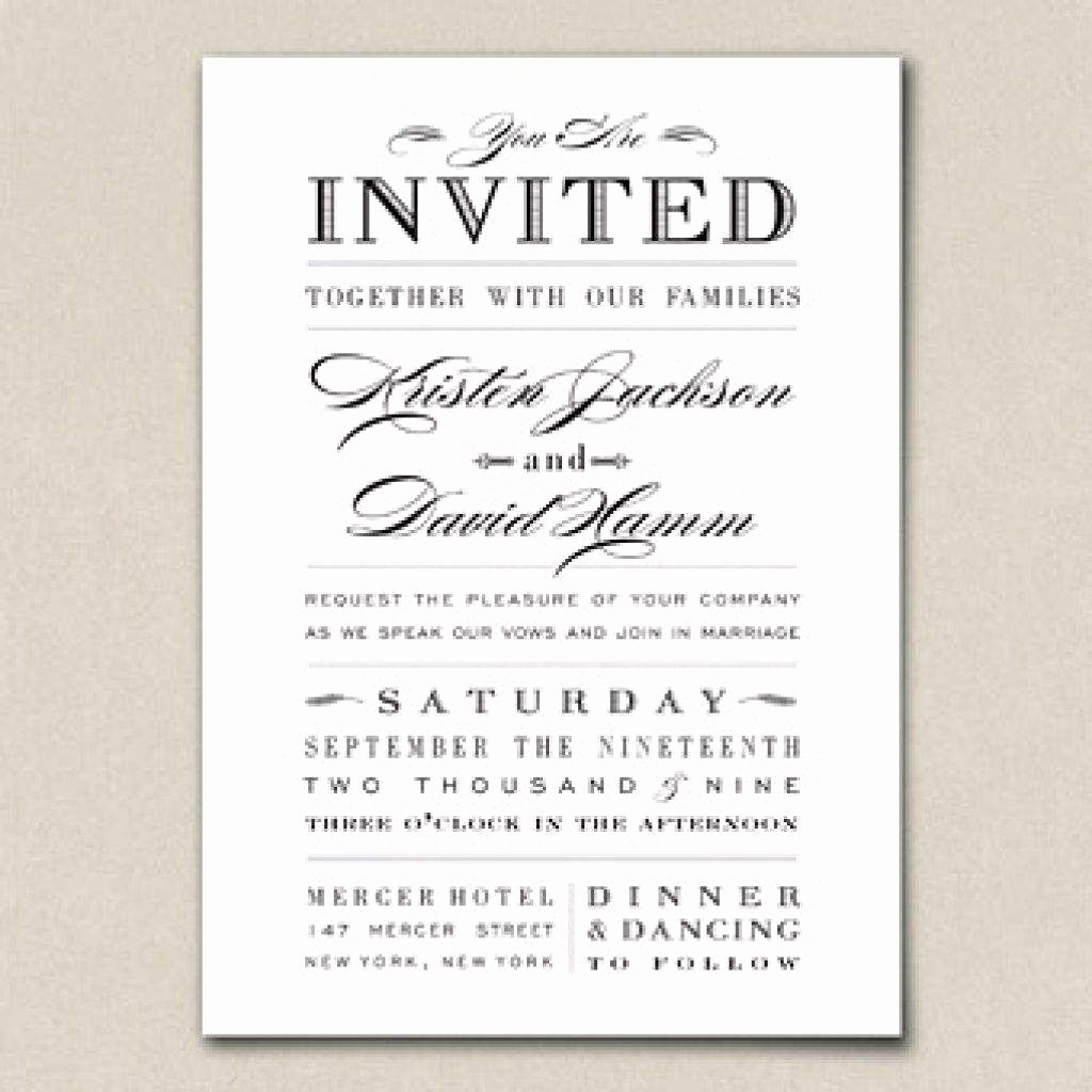 No Host Dinner Invitation Beautiful Sample Wedding Invitation Wording Couple Hosting