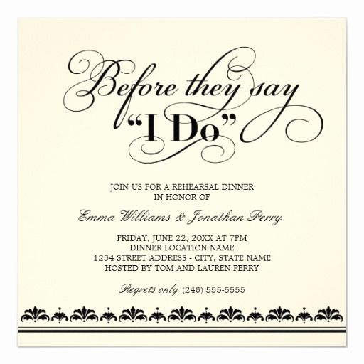 No Host Dinner Invitation Best Of Wedding Rehearsal Dinner Invitation Wedding Vows