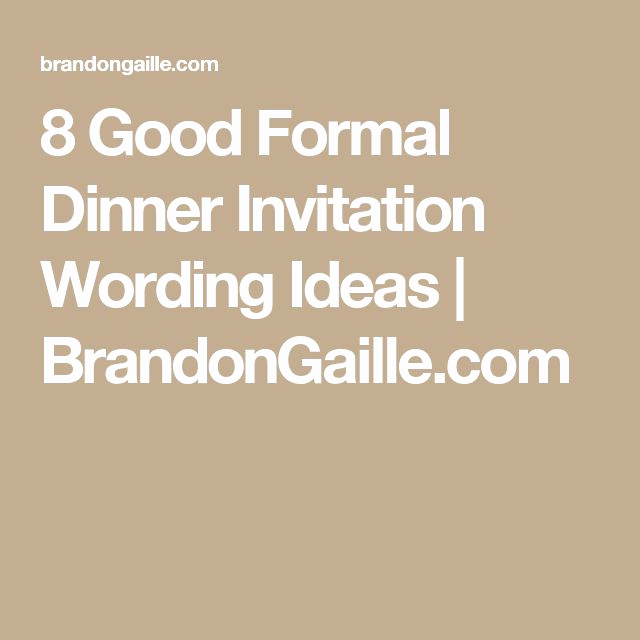 No Host Dinner Invitation Inspirational 1000 Ideas About formal Dinner On Pinterest