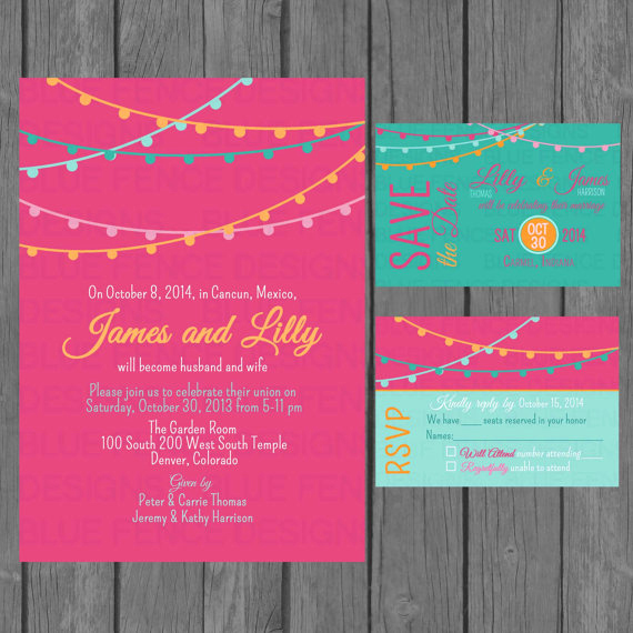Non Traditional Wedding Invitation Wording Best Of Simple Wedding Invitation Suite Modern Colorful Wedding