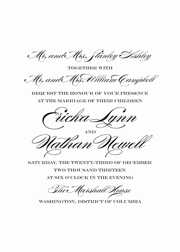 Non Traditional Wedding Invitation Wording Best Of Traditional Wording for Wedding Invitations