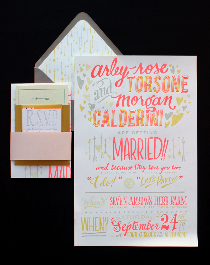 Non Traditional Wedding Invitation Wording Elegant Ladyfingers Letterpress Oh so Beautiful Paper