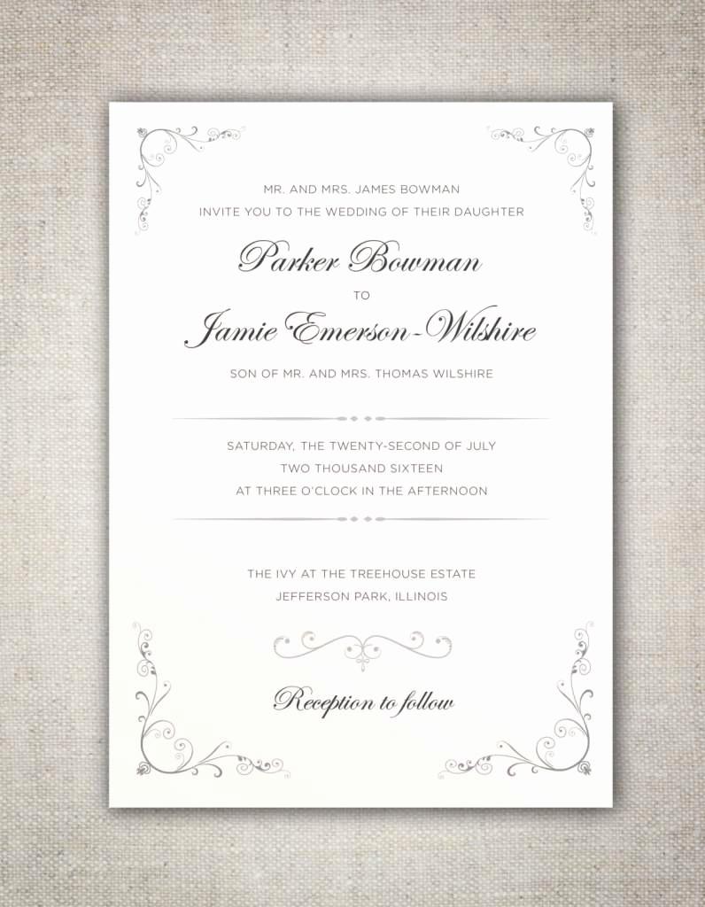Non Traditional Wedding Invitation Wording Inspirational 34 orthodox Wedding Invitations Traditional Invitation