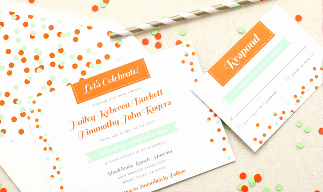 Non Traditional Wedding Invitation Wording Inspirational Party Confetti Invitation – Non Traditional Wedding
