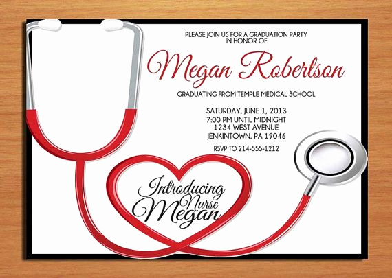 Nurse Graduation Invitation Template Awesome 14 Best Graduation Invitations Images On Pinterest